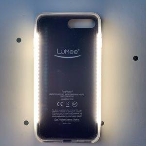 LuMee Accessories - Rose Gold iPhone 7&8 Plus LuMee Duo Glitter Case